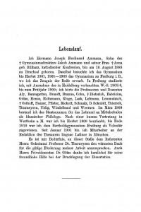 Ammann Lebenslauf (1911)